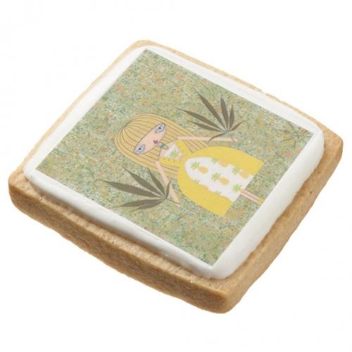 """""""Pineapple Girl"""" Sugar Cookie"""